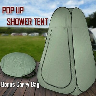 Pop Up Camping Shower Toilet Tent Outdoor Privacy Portable Change Room Shelter G