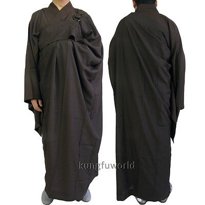 2 Pieces Buddhist Monk Meditation Robes 7 Panels Kesa with inside Haiqing Gown
