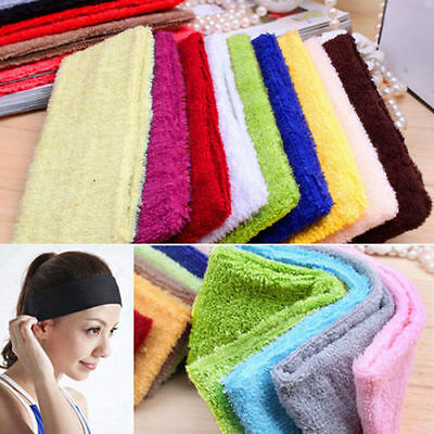 14 Colors Womens Sweatband Cotton Headbands Yoga/Gym/Workout bands Accessories