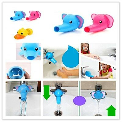 Baby Kids Elephant Duck Dolphin Animal Washing Hand Water Tap Faucet Extender -G