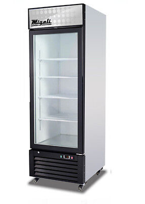 Migali C-23 Fm Commercial One Hinged !! Glass Door Merchandiser Freezer !!