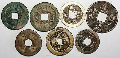 Lot 7 pieces Chine a identifier