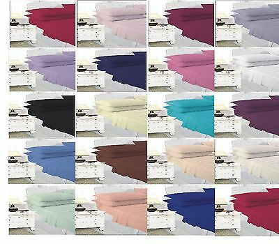 Plain Dyed Fitted Sheet, Flat Sheet, Valance Sheet and Pillow Cases All Sizes