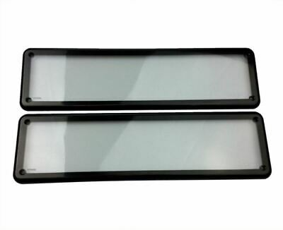 Waterfroof Number Plate Cover Surrounds - Slimline Size Vic Plates (2)