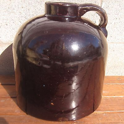 Antique Red Wing Minnesota Stoneware Marked 1 Gallon Wide Mouth Brown Whisky Jug