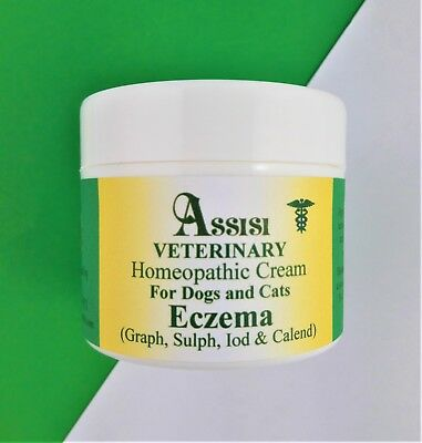 ASSISI HOMEOPATHY ECZEMA CREAM FOR DOGS & CATS 50g, flaky dry skin & eczema
