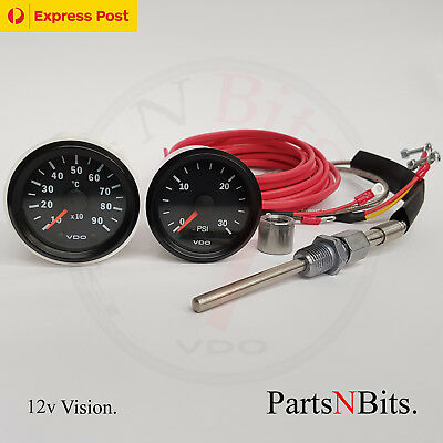 VDO 12v PYROMETER PYRO EGT GAUGE KIT AND 30 PSI BOOST GAUGE 4WD