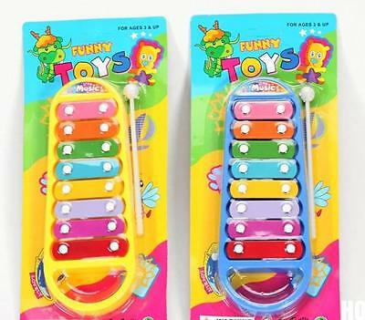 HOAU  Child Kid Baby Musical Instrument 8-Note Xylophone Toy Wisdom Development