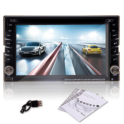 "6.2"" Double 2 DIN Car DVD Radio CD estéreo reproductor de navegación GPS AUTO"