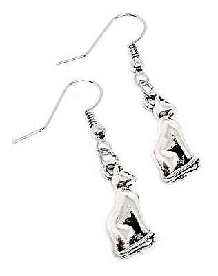 Earrings Bast Bastet Egyptian Cat Front Facing 3d Design Simply Unique Gift