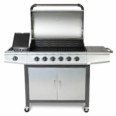 Fireplus 6+1 Gas Burn Grill BBQ Barbecue w/ Side Burner & Storage