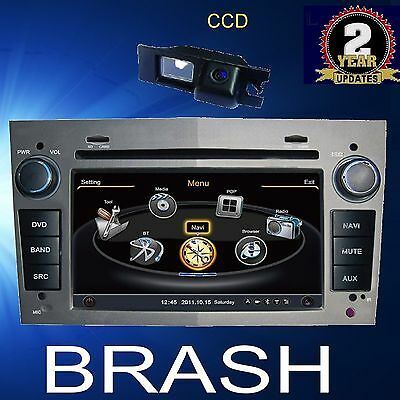 Holden Astra 2005-2009 Grey Indash Gps Dvd Navi Bluetooth Stereo Am/fm &camera