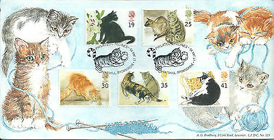 GB 1995 Cats limited editiion Bradbury first day cover. #900/1000