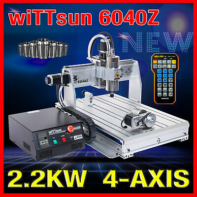 USB four 4 axis 6040 2.2KW cnc router engraver engraving milling machine mach3