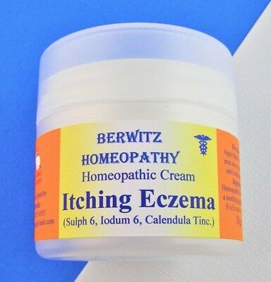 HOMEOPATHY ITCHING ECZEMA CREAM 50g Dry Skin Itching Inflammation Redness Relief