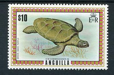 Anguilla 1972 $10 green-back turtle SG144a MNH