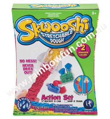 NEW Skwooshi™ Dough Action Set - 115g Skwooshi & Action Molds & Action Figures