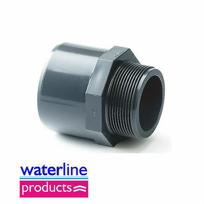 Plain /BSP Male Threaded Adaptor Grey uPVC Pipe Fitting