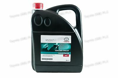Genuine Toyota Long Life Red Coolant Antifreeze Concentrate 5 Litres 0888980014