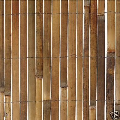 1m x 4m Bamboo Slat Natural Garden Screening Fencing Screen Fence Panel Roll