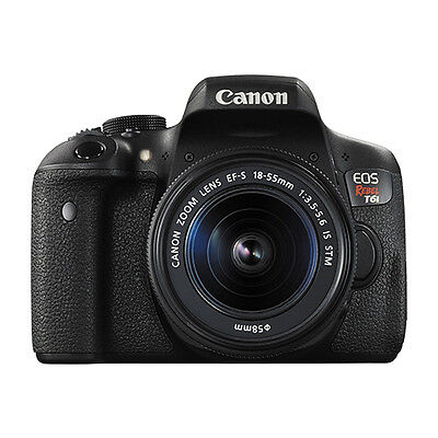Canon EOS Rebel T6i Digital SLR Camera with 18-55mm EF-S f/3.5-5.6 IS STM Lens