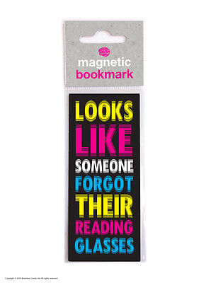 Brainbox Candy Reading novelty magnetic bookmark funny cheap present gift
