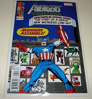 The AVENGERS : OPERATION HYDRA # 1 Marvel Comic  2015  NM  KIRBY VARIANT COVER
