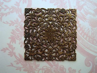 Large Antiqued Brass Filigree Stamping (1) - ANTRAT3486F Jewelry Finding