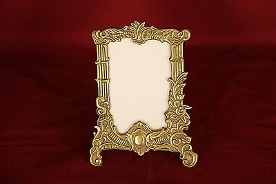 1930's Ornate Brass Art Nouveau Photo or Picture Stand