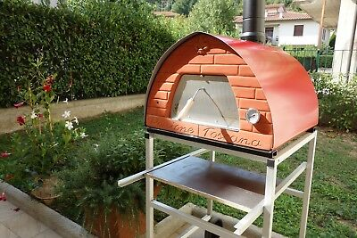 Outdoor Wood fired oven PIZZA PARTY ORIGINAL WOOD FIRED OVEN MOBILE 70x70 RED