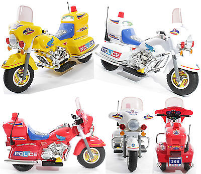 Charles Jacobs Ride on Kids Police Motorcycle Electric Childs Motorbike 6V Bike