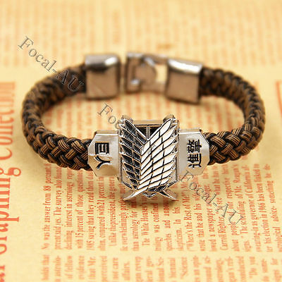 Attack On Titan Bracelet Shingeki No Kyojin Unisex Charm Cosplay Bracelets 1PC