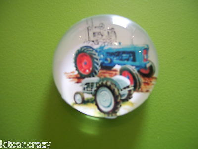 Small Glass Domed Fridge Magnet Features Classic Tractors, Collectable