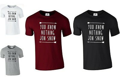 You Know Nothing Jon Snow T Shirt Game Of Thrones Inspired (You Know,tshirt)