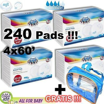 240 Disposable Maternity Nursing Breast Pads 4x60pcs-very soft+COSMETIC BAG free