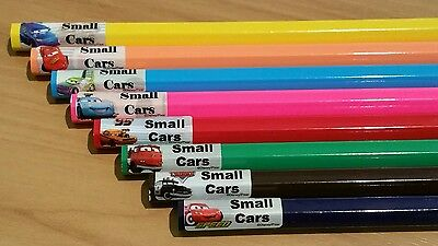 132 Cars Personalised Name Label Stickers Pencil (22*09mm) Dishwasher Safe