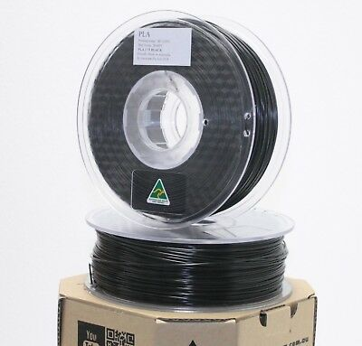 Aurarum 3D printer PLA filament BLACK 1.75 mm made in OZ