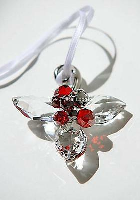 Swarovski Winter Berries Ornament Clear 1054566 Mint Boxed Retired