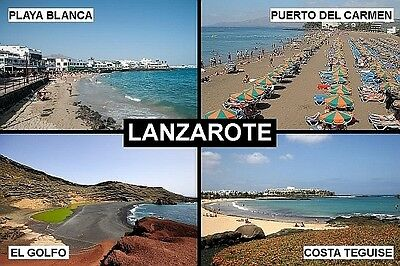 SOUVENIR FRIDGE MAGNET of LANZAROTE CANARY ISLANDS SPAIN