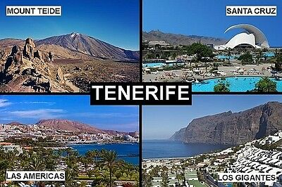 SOUVENIR FRIDGE MAGNET of TENERIFE CANARY ISLANDS SPAIN