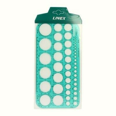 Linex Circle Template 45 Circles Size 1 to 36mm. Ref: 1217T