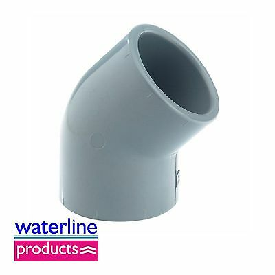 Elbow 45° Plain Solvent Cement Grey uPVC Pipe Fitting Imperial