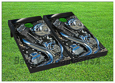 VINYL WRAPS Cornhole Boards DECALS Motorcycle Engine BagToss Game Stickers 333