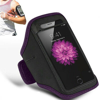 "Padded Armband iPhone 6Plus 5.5"" Running Secure Keyhole Fastening(Purple)"