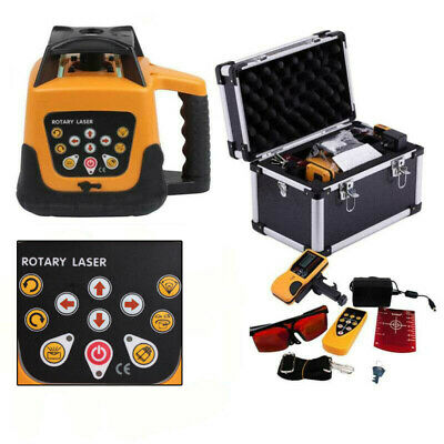 Automatic Self-Leveling Rotary Rotating Red Laser Level Kit 500M +Carrying Case