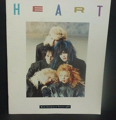 HEART Nancy & Ann Wilson tour book program Bad Animals Tour 1988 excellent cond
