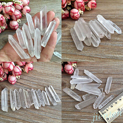 New 10/20Pcs Faceted Crystal Glass Teardrop Loose Charms Spacer Beads 16x8x4mm