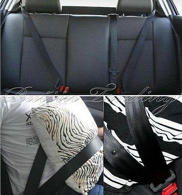 Universal 3 Point Auto Retractable Car Seat Lap Harness Adjustable Safety Belt