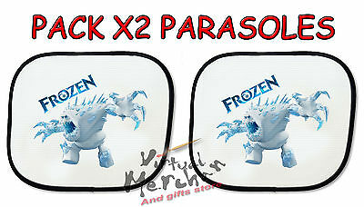 PACK 2 PARASOLES 1 parasol FROZEN ELEMENTAL ANA sunshield coche car sunshade