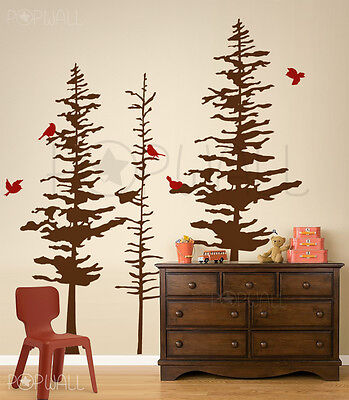 Pine Cone trees wall decal - Nature - Custom your own DIY wall sticker